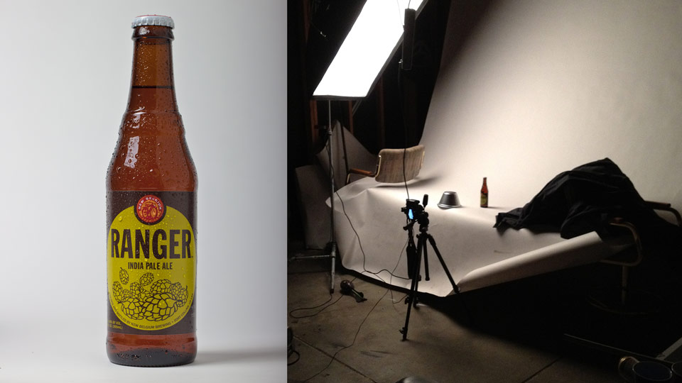 Bottle photography shoot